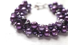 Purple Bracelet, by skyejuice on etsy.com
