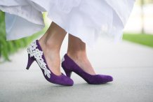 Size 8 purple heels, by walkinonair on etsy.com