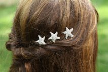 Starfish hair clips, by BoutiqueCorner on etsy.com