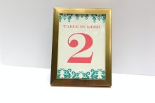 Table numbers, by AlexandriaLindo on etsy.com