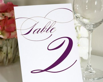 Table numbers, by shineinvitations on etsy.com