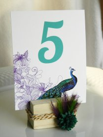 Table numbers, by WeddingSundae on etsy.com