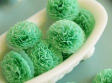 Tissue paper flowers, by ZoBeDesigns on etsy.com