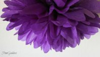Tissue paper pompom, by PomGoddess on etsy.com