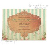 Vintage-style invitation, by GreenCherryFactory on etsy.com