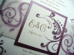 Wedding invitations, by PinkOrchidInvites on etsy.com