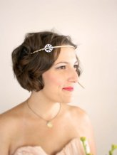 Art deco wedding head band, by prettygoodthings on etsy.com