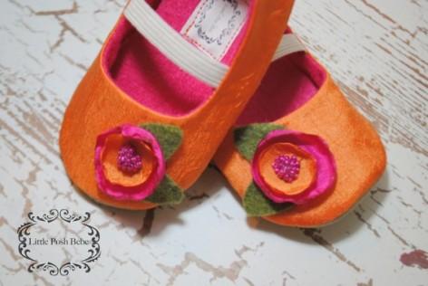 Baby flower girl shoes, by LittlePoshBebe on etsy.com