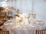 Blush pink and grey wedding reception