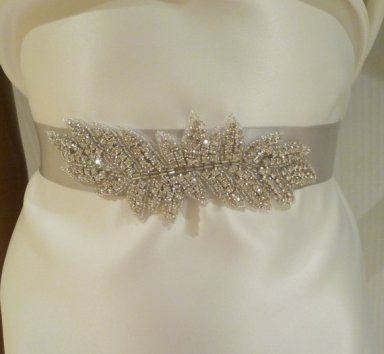 Bridal sash, by BellaCescaBoutique on etsy.com