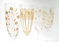 Champagne flutes, by decouverre on etsy.com