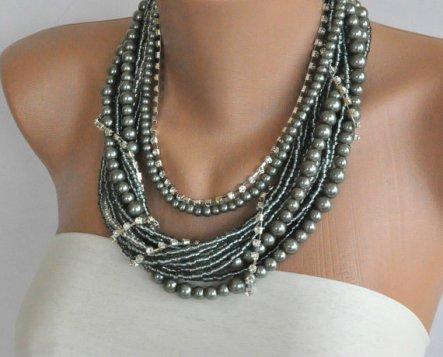 Chunky necklace, by kirevi8 on etsy.com