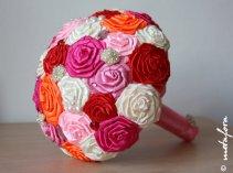 Fabric bouquet, by feltdaisy on etsy.com