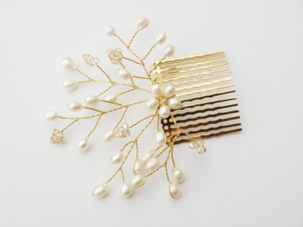 Hair comb, by jewellerymadebyme on etsy.com