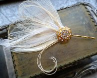 Hair jewellery fascinator pin, by RoseoftheMire on etsy.com