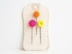 Hair pins, by accordingtoshe on etsy.com