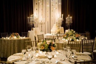 Ivory & gold wedding reception