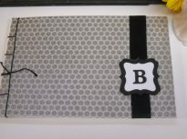 Monogram guest book, by mrschadt on etsy.com