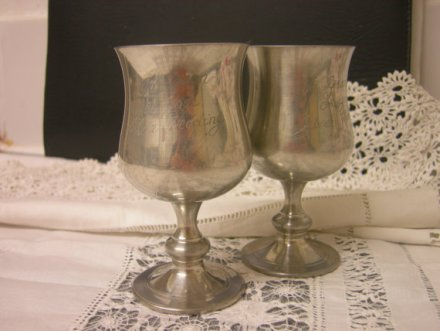 Old English goblets, by zofiVintage on etsy.com
