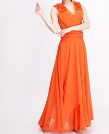 Orange bridesmaid dress, by Susiewear on etsy.com