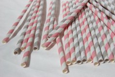 Paper straws, by bevebylaurenfish on etsy.com
