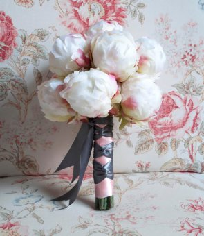 Peony wedding bouquet, by KateSaidYes on etsy.com