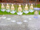 Personalised bridesmaid wine glasses, by WaterfallDesigns on etsy.com