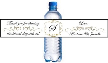 Self-adhesive bottle labels, by Beyonddiapercakes on etsy.com