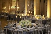 Silver-grey wedding reception