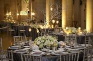 Silver-grey wedding reception