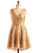 'Striking gold' dress from modcloth.com
