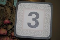 Table numbers, by bizzylizzyshop on etsy.com