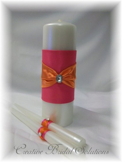Unity candle set, by CreativeBridal on etsy.com