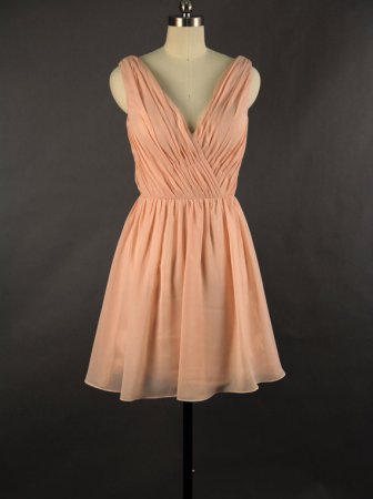 V-neck bridesmaid dress available in multiple colours, US$86, by DressbLee on etsy.com