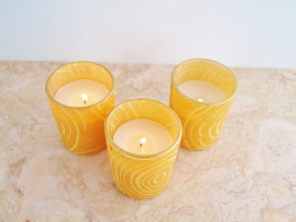 Votive candle holders, by GreenOrchidDS on etsy.com