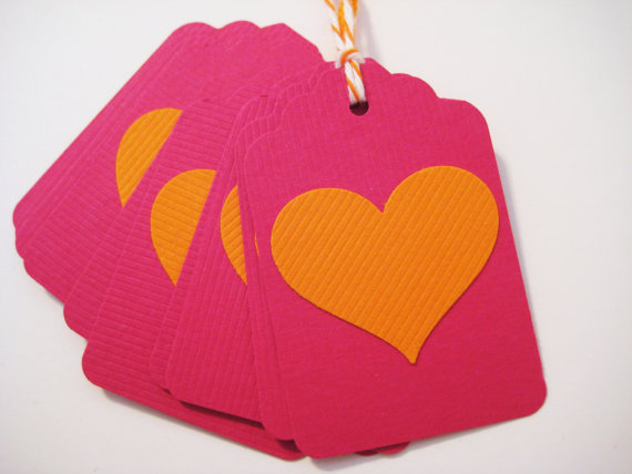 Wedding favour tags, by ThePinkDillo on etsy.com