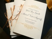 Wedding programmes:order of ceremony, by PinkOrchidInvites on etsy.com