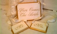 Wedding signs, by RomanticPlanet on etsy.com