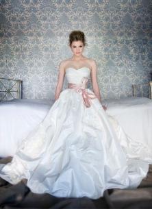 Anna Schimmel taffeta wedding dress