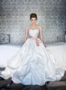 Anna Schimmel taffeta wedding dress