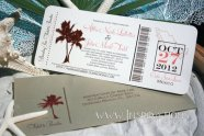 Boarding pass wedding invitation, by InspirationsbyAmieLe on etsy.com