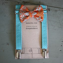 Boy's suspenders and bowtie set, by Bebecha on etsy.com