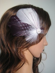 Bridal fascinator, by exquisitecreations2u on etsy.com