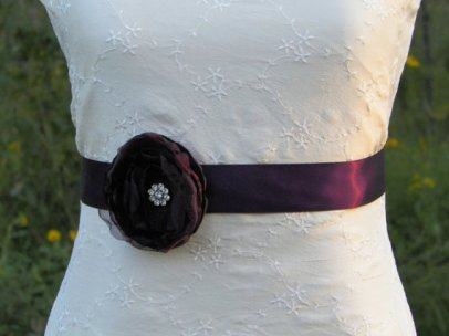 Bridal sash, by CherryBlosomBoutique on etsy.com