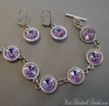 Bridesmaid bracelet and earring set, by AlexiBlackwellBridal on etsy.com