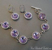 Bridesmaid bracelet and earring set, by AlexiBlackwellBridal on etsy.com