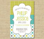 Bright summery invitation, by FreshLavender2 on etsy.com