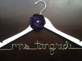 Custom wedding hanger, by HandcraftedAffairs on etsy.com