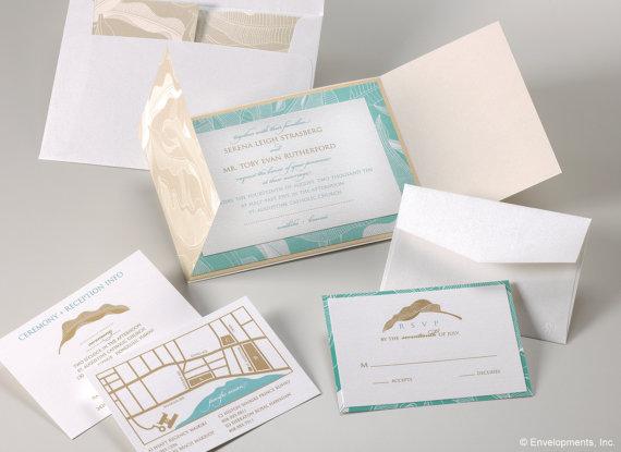Destination beach wedding invitation set by LamaWorks on etsy – Etsy Beach Wedding Invitations