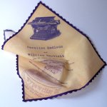 Handkerchief invitation, by ArtfulBeginnings on etsy.com